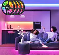abordables -lumières de bande led 4x5m rgb tiktok lumières 5050 10mm 30 leds mètres contrôleur ir 44key et connecteur 1x1 à 4 câble avec 10pcs ligne de connexion dc12v 140w