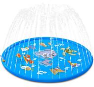 """economico -splash pad irrigatore per bambini 68 """"spruzzi tappetino da gioco giochi d'acqua all'aperto gonfiabile splash pad piscina per bambini ragazzi ragazze bambini fuori cortile irrigatore piscina"""