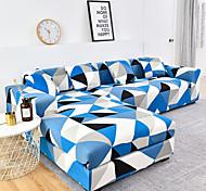 abordables -1 pc géométrique bleu noir lignes blanches housse de canapé housse de canapé élastique au salon canapé pour animaux de compagnie housse de protection inclinable housse de canapé