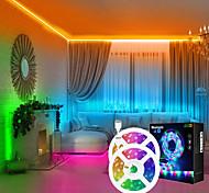 economico -luci a strisce principali sincronizzazione musicale 2x7.5m cambio colore 50ft 5050 strisce luminose a led rgb luce del proiettore del cielo stellato combinazione di luce del pendente nuvola da sogno