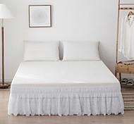 economico -Nozioni di base della moda gonna da letto arruffata volant polvere con pizzo avvolgere facile on / off e vestibilità antirughe e tinta unita resistente allo sbiadimento