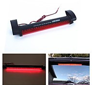 economico -otolampara dc 12v 10w auto rossa ha condotto le luci dei freni 3a barra della lampada del segnale di parcheggio posteriore camion alta luce di avvertimento di arresto di montaggio colore rosso