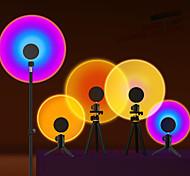 abordables -lampe de projecteur coucher de soleil atmosphère arc-en-ciel led veilleuse pour la maison chambre café fond décoration murale lampe de table (support non inclus)