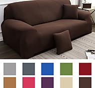 abordables -housse de canapé couleur pure protecteur de meubles tissu jacquard spandex extensible doux