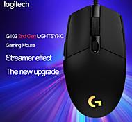 abordables -Logitech g102 lightsync / prodigy 2nd gen gaming souris filaire jeu souris support bureau / ordinateur portable windows 10/8/7 souris optique