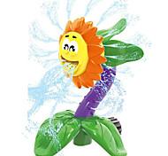 abordables -jouet d'arrosage pour enfants, joli jouet d'eau d'arrosage créatif tournesol / piranha, jouets d'eau d'arrosage de tournesol tournants d'été, jouets de jeu de douche pour les tout-petits garçons