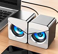 economico -v-116 usb computer cablato altoparlante bass stereo colorato led luce desktop di casa per pc/laptop/telefono cellulare/mp3/mp4/dvd