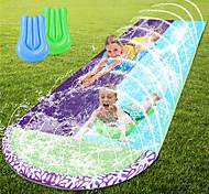 economico -scivolo d'acqua e scivolo per bambini adulti, scivolo d'acqua da prato da 15,7 piedi, scivolo d'acqua all'aperto con crash pad e giardino con irrigatore a spruzzo (tavole da surf non incluse)