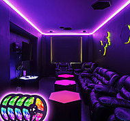 economico -luci di striscia a led sincronizzazione musicale strisce rgb luce nastro 20m 600leds smd5050 controller bluetooth che cambia colore 24 tasti decorazione telecomando per casa tv party - controllato da