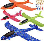 """economico -Confezione da 4 giocattoli per aeroplani, aggiornamento di un grande aereo da lancio in gommapiuma da 17,5 """", 2 modalità di volo in aliante, giocattolo volante per bambini, regali per 3 4 5 6 ragazzo"""