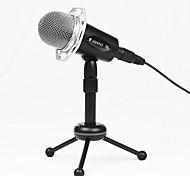 economico -microfono professionale a condensatore a filo da 3,5 mm con supporto per treppiede microfono palmare per la registrazione in studio di video karaoke per computer