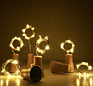 economico -luci della stringa solare decorazione di nozze 2m x 20led bottiglia di vino ghirlanda solare sughero luci fiabesche all'aperto impermeabile luce di natale ghirlanda di rame patio stringa 10 pezzi 6