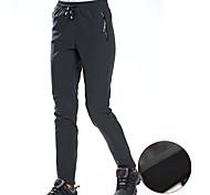 abordables -Femme Pantalons de Randonnée Pantalon softshell Hiver Extérieur Chaud Etanche Coupe Vent Respirable Toison Pantalons / Surpantalons Bas Noir Grise Chasse Pêche Escalade M L XL XXL XXXL