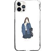 economico -fashion girl portrait case for apple iphone 12 11 se2020 design unico custodia protettiva antiurto custodia tpu clear case for iphone 12 pro max xr xs max iphone 8 7