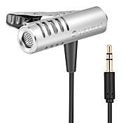 economico -yanmai r933 microfono a condensatore omnidirezionale lavalier per fotocamera del telefono del pc
