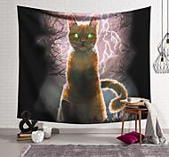abordables -Tapisserie murale art décor couverture rideau suspendu maison chambre salon décoration polyester arbre mort tonnerre canyon chat