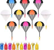 economico -10 pezzi di giocattoli con paracadute per bambini, paracadute da lancio senza grovigli senza batteria né assemblaggio, giocattoli volanti all'aperto per bambini regalo di tutte le età