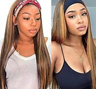 abordables -bandeau perruque nouveau style bandeau, perruque synthétique, cheveux longs et raides à la mode féminine, foulard de couleur dégradée (pas de bandeau coloré)