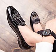 abordables -British Wind beanie chaussures hommes arc brillant paresseux chaussures coiffeur tendance personnalité ensemble pieds petites chaussures en cuir hommes