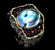 economico -Anello Pietra della luna Stile vintage Nero Ottone Occhi Malocchio Lusso Vintage ▾ Europeo 1 pc 6 7 8 9 10 / Per donna