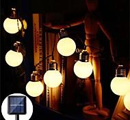 abordables -LED solaire guirlande lumineuse extérieure étanche 3.5 m g50 rétro ampoule fée guirlande lumineuse noël fête de mariage jardin terrasse café maison décoration lampe