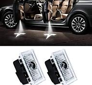 abordables -otolampara 2pcs cool led porte bienvenue lumière laser pour tesla modèle 3 modèle s modèle x projecteur logo ghost shadow lights