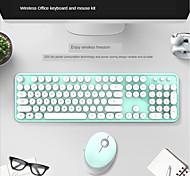 economico -skyscraper mano tastiera senza fili mouse colore rossetto ragazza punk tastiera set da ufficio
