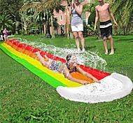 economico -Scivoli d'acqua per prato da 14 piedi, centro giochi scivolo scivolo arcobaleno con irrigatore splash e crash pad gonfiabile per bambini bambini estate cortile giochi in piscina giochi acquatici