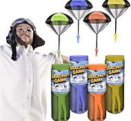 economico -gioco di paracadute giocattolo volante fun-choo per bambini, paracadute da lancio a mano per giochi all'aperto, include uomo dell'esercito con paracadute, design senza grovigli, disponibile in