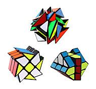 abordables -ensemble de cube de vitesse qiyi 3 pack paquet de cube de vitesse magique 3x3x3 cube moulin à vent yj axe yongjun cube v2 cube yj fisher cube 3x3 jouet de puzzles de cube de vitesse robuste et lisse