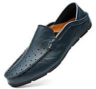 abordables -hommes d'été extra large 45 ensemble de cuir de vachette respirant pieds paresseux bonnet chaussures 47 perforé creux petite taille 37 chaussures en cuir