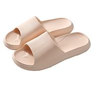 abordables -home eva pantoufles à semelles épaisses pour hommes et femmes été salle de bain silencieuse maison dames sandales et pantoufles chaussures d'intérieur antidérapantes