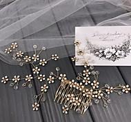 economico -accessori per capelli da sposa in vendita diretta in fabbrica, pettine per capelli con copricapo in cristallo con strass opale, accessori per pettine con inserti in fata della foresta di grandi