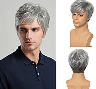 abordables -jeune homme perruque synthétique courte coupe de cheveux bouclés en couches perruque costume marron Livraison gratuite 4 couleurs disponibles