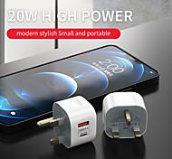economico -20 W Potenza di uscita USB USB C Caricatore PD Caricatore veloce Caricatore del telefono Caricabatterie portatile Caricabatteria di Muro QC 3.0 Ricarica veloce Per Xiaomi Cellulare Huawei Apple
