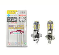 abordables -otolampara 2 pièces h1 h3 ampoule led 5050 9smd blanc 6000k pour voiture auto brouillard drl conduite lumière ou lampe de poche torches lampe frontale pk22s