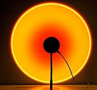 abordables -lampe de projection coucher de soleil lumière LED, lampe d'éclairage d'ambiance visuelle romantique, lumière rouge de réseau de rotation de 90 degrés, veilleuse de pied de sol moderne pour le décor
