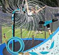 abordables -Arroseur de trampoline pour enfants parc aquatique d'arrière-cour Waterwhirl jouets de jeu en plein air jouets d'été réglables accessoires inclus outil gratuit (bleu)
