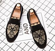 abordables -Coréen petites chaussures en cuir hommes chaussures décontractées affaires chaussures en cuir noir nubuck spectacle de cuir fleur mocassins cheveux styliste marée
