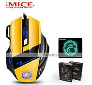 economico -mouse da gioco ergonomico cablato 7 pulsanti led 2400 dpi mouse per computer usb mouse gamer x7 silenzioso mause con retroilluminazione per pc laptop