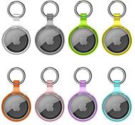 economico -custodia trasparente multicolore per apple airtags 2021 cover tracker bluetooth portatile cover protettiva leggera antigraffio anti-smarrimento con portachiavi per airtages accessorio cercatore chiave