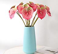 economico -1pc simulazione anthurium fiore anthurium decorazione domestica in vaso 13 * 57 cm