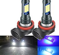 abordables -2 pcs H8 H9 H11 Ampoules LED LED Auto Ampoule De Brouillard Avant 3030 24smd LED Phare Lampes Ampoule De Conduite De Voiture Lampe De Course 12V