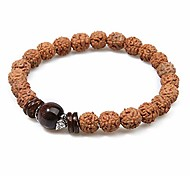 abordables -Balibali fait à la main 5 mukhi rudraksha bracelet perlé méditation poignet tibétain bracelet japa prière bracelets de charme