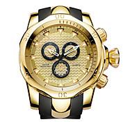 economico -orologio sportivo da lavoro di moda orologio da uomo con quadrante grande in oro con cinturino in silicone impermeabile