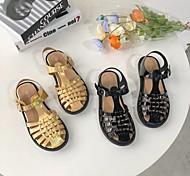 economico -sandali romani intrecciati con testa di pane in pelle acigo estate 2020 nuove scarpe basse con fibbia in oro da donna