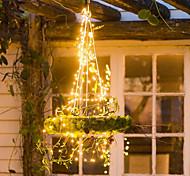 abordables -guirlande solaire 20m 200 leds 1 ensemble support de montage fête des mères Saint Valentin noël mariage patio lampe décorative solaire blanc chaud