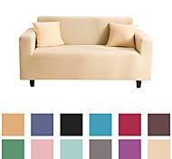 abordables -Housse de canapé en tissu super doux extensible de couleur pure (vous obtiendrez 1 taie d'oreiller en cadeau gratuit)