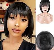 abordables -cheveux humains court bob perruques cheveux brésiliens court bang perruques naturel court bob perruques de cheveux humains bob bang perruques pour les femmes noires
