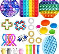 economico -giocattolo squishy attenuatore dello stress del giocattolo sensoriale agitarsi 25 pz mini giocattoli creativi di decompressione di sollievo dallo stress e dall'ansia lento aumento di plastica metallo
